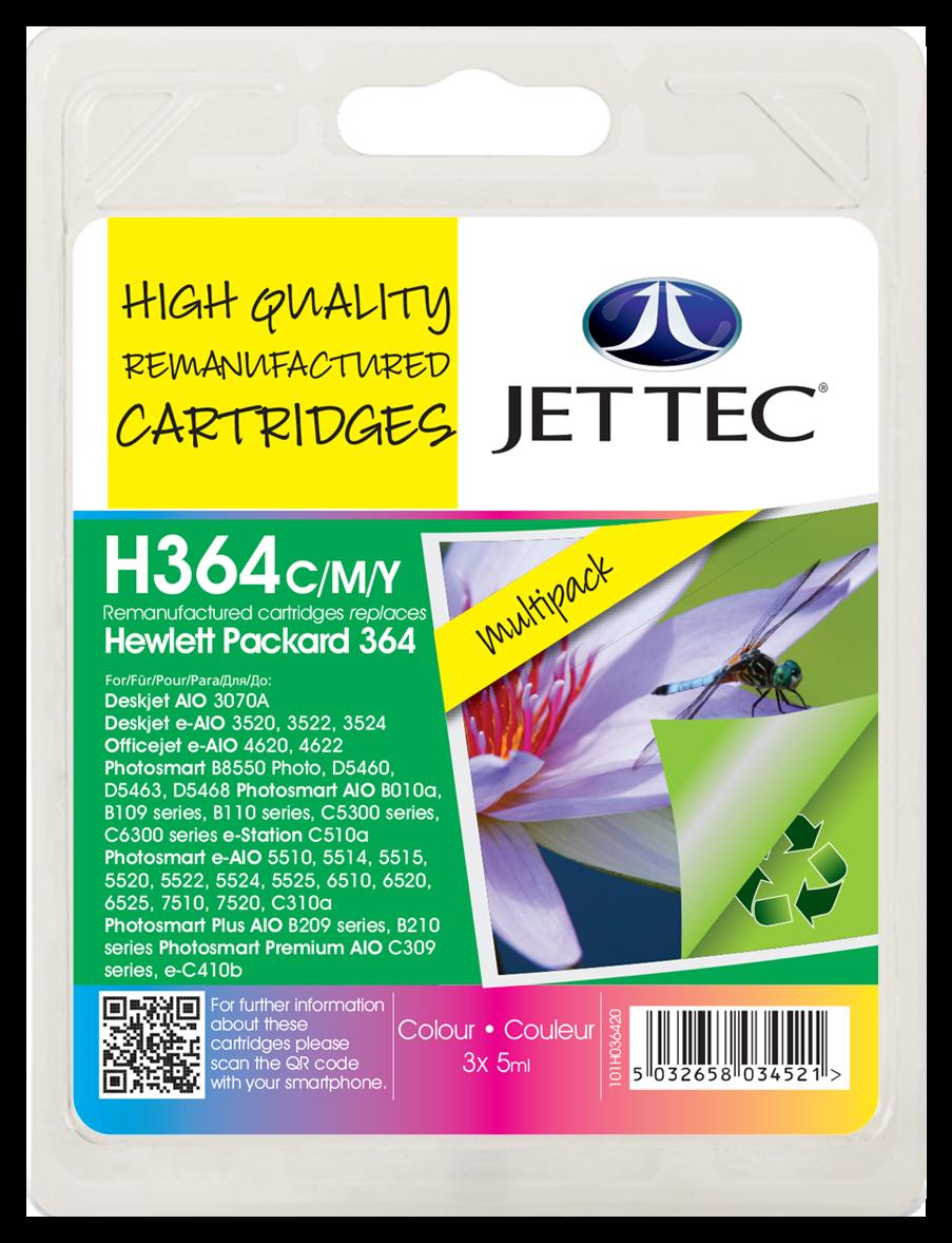 HP364 Cyan, Magenta, Yellow Multipack