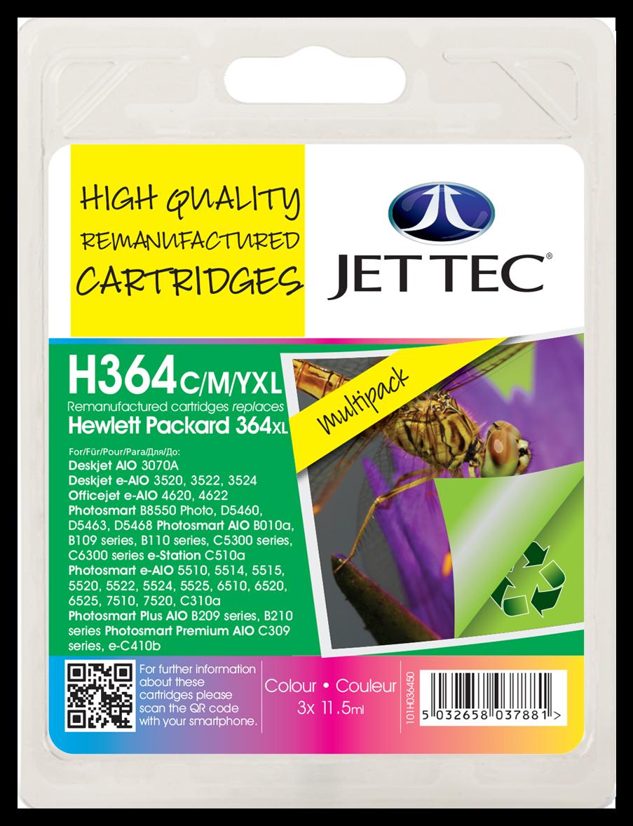 HP364XL Cyan, Magenta, Yellow Multipack