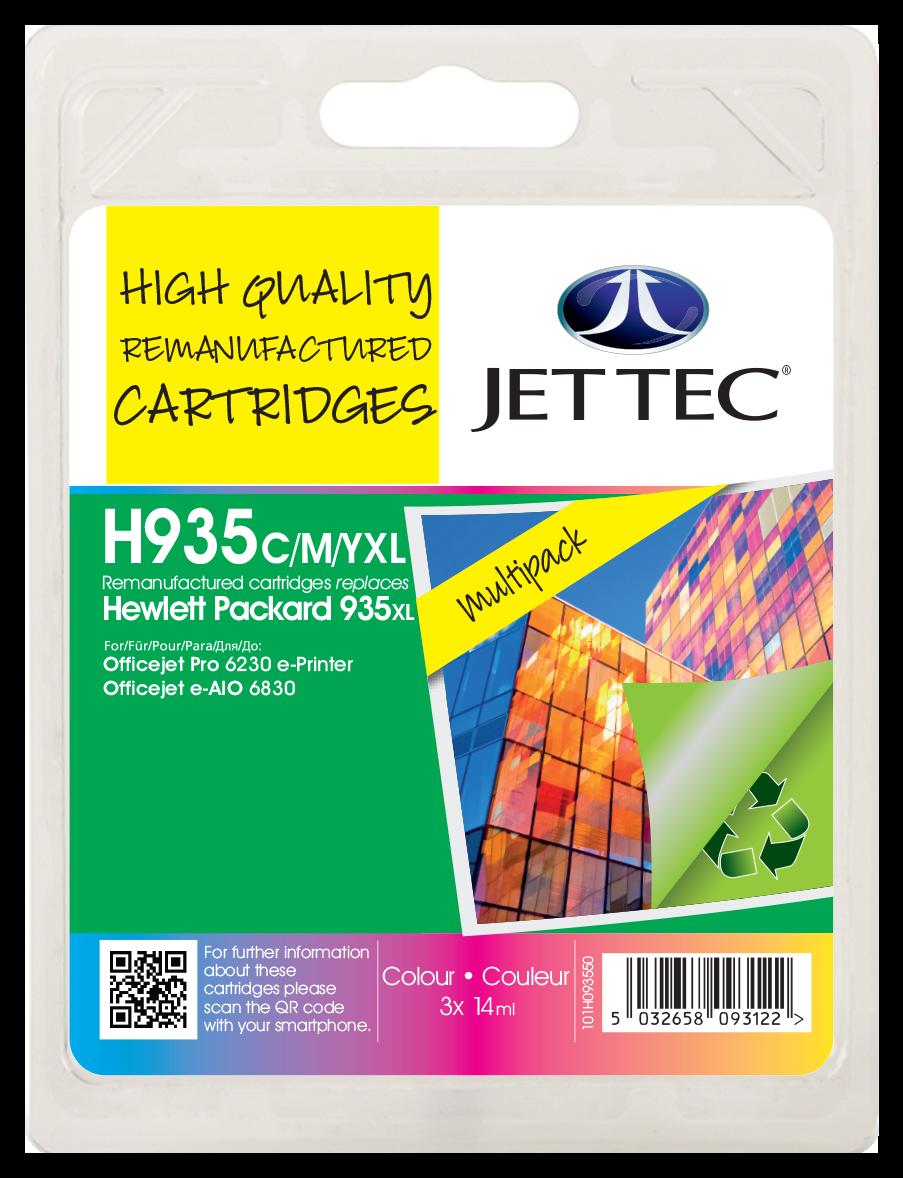 HP935XL Cyan, Magenta, Yellow Multipack