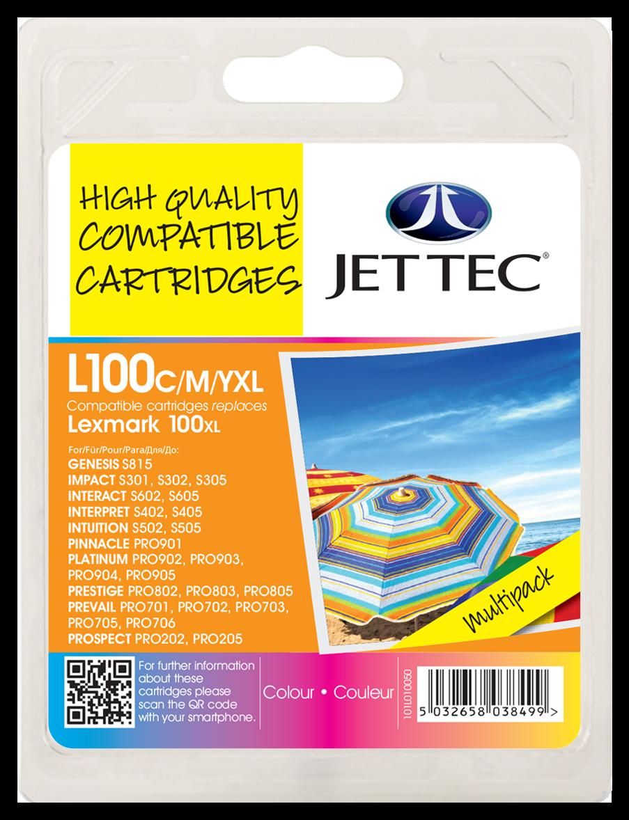Lexmark 100XL Cyan, Magenta, Yellow Multipack