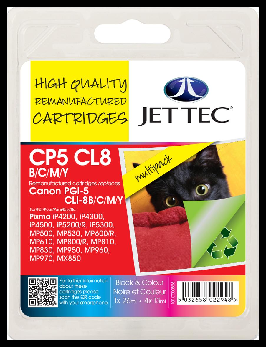 PGI-5 Black, CLI-8 Black, Cyan, Magenta, Yellow Multipack