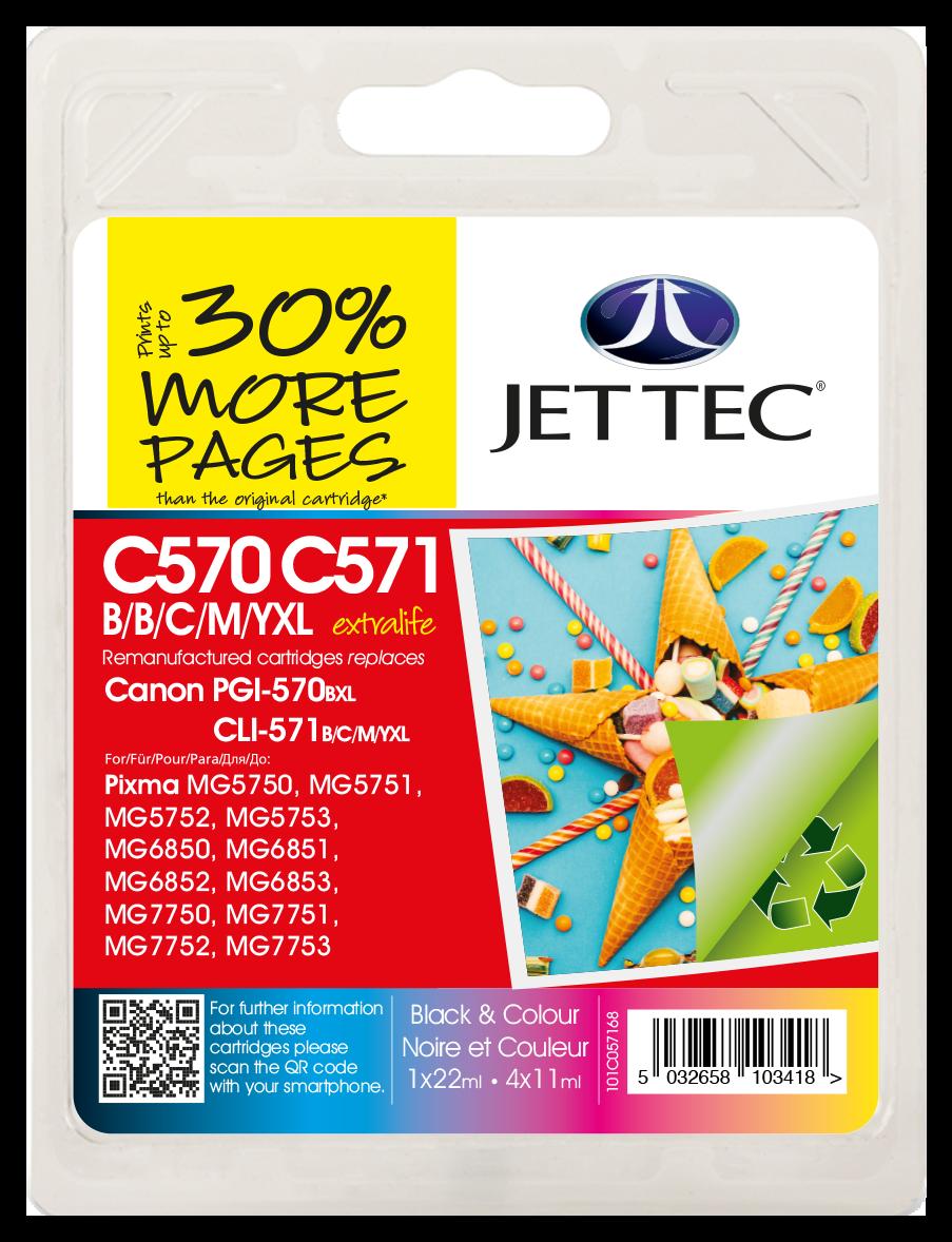 PGI-570XL Black, CLI-571XL Black, Cyan, Magenta, Yellow Multipack