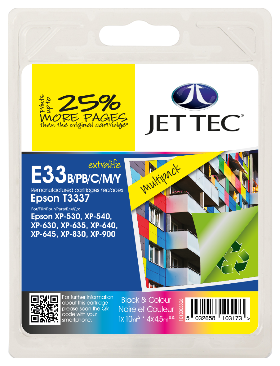 T3337 Black, Cyan, Magenta, Yellow, Photo Black  Multipack