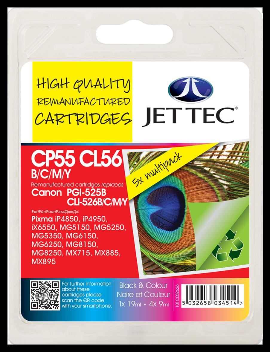 PGI-525 Black, CLI-526 Black, Cyan, Magenta, Yellow Multipack